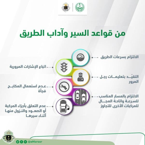eMoroor 1 - 6 نصائح لقائدي السيارات لتفادي الحوادث